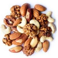 Mix Nuts Almonds Cashews Brazil Nuts and Walnuts