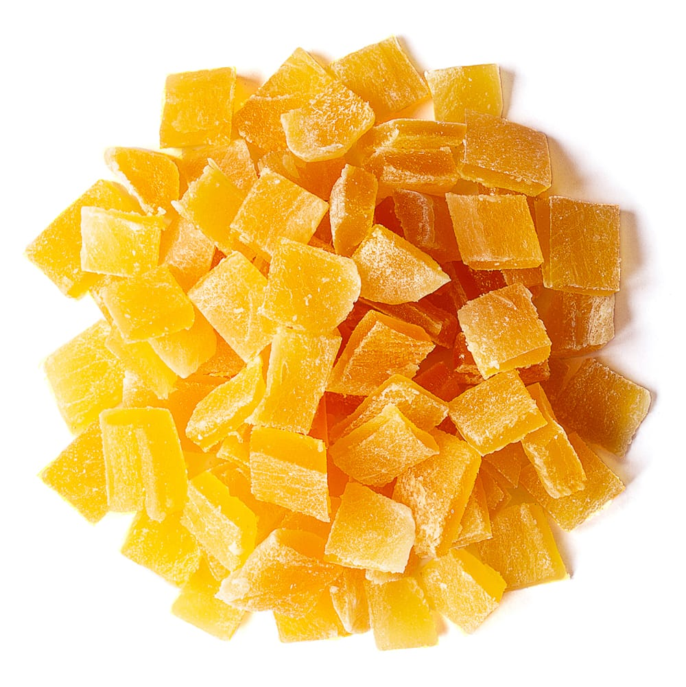 diced dried mango
