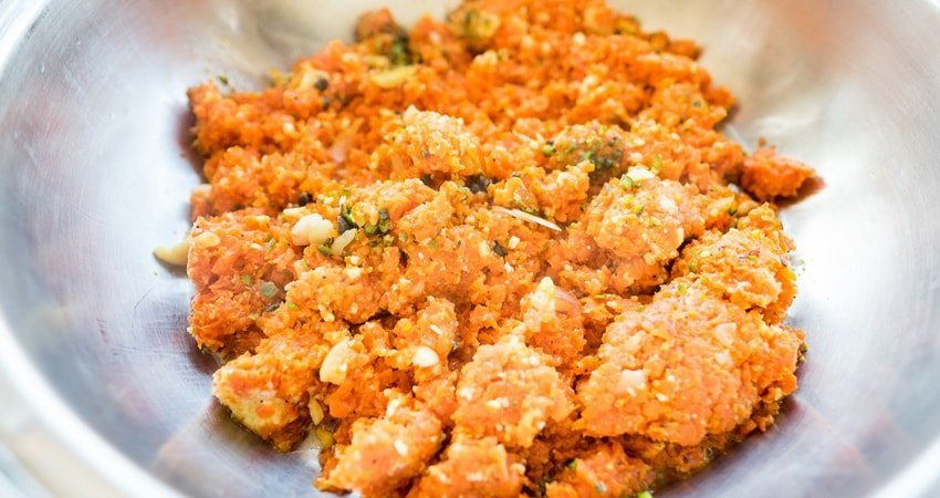 The recipe of carrot cashew pate