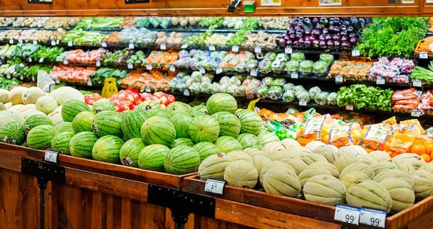 Shop the outer perimeter of the store for fresh produce