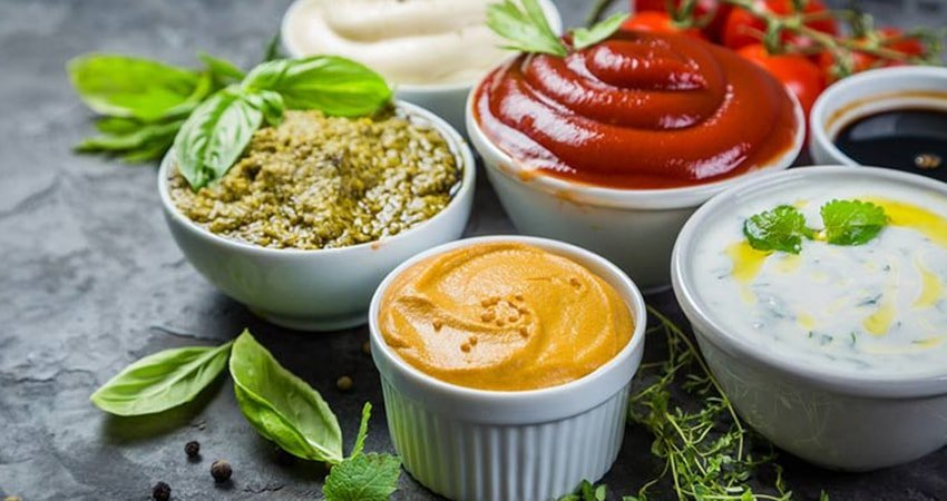 Order dressing and sauces on the side