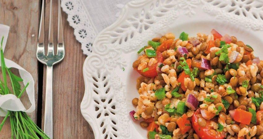 Red Lentil and Olive Salad