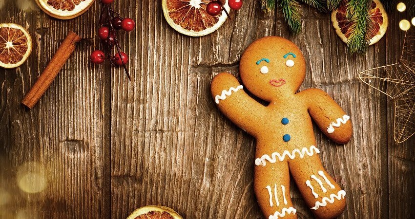 Vegan Gingerbread Men Cookies