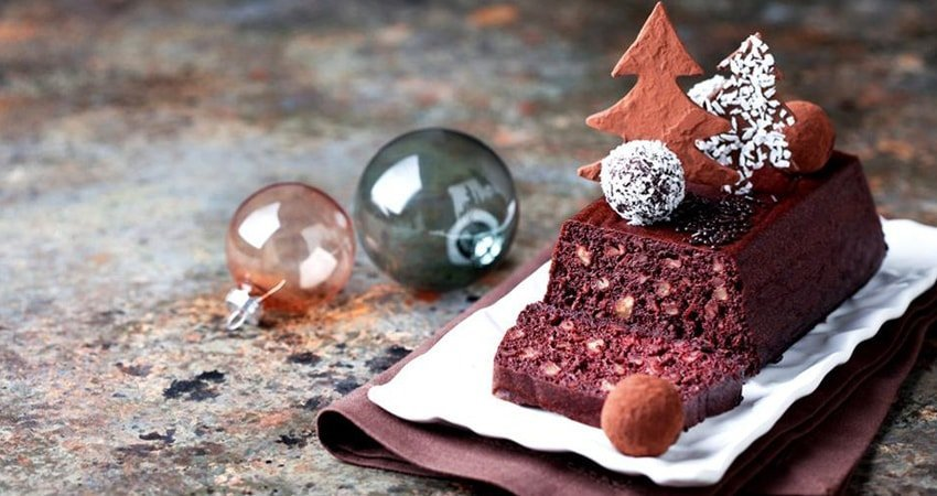 Chocolate Christmas Vegan Cake