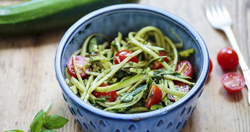 Gluten-Free Zucchini Noodles with Pesto