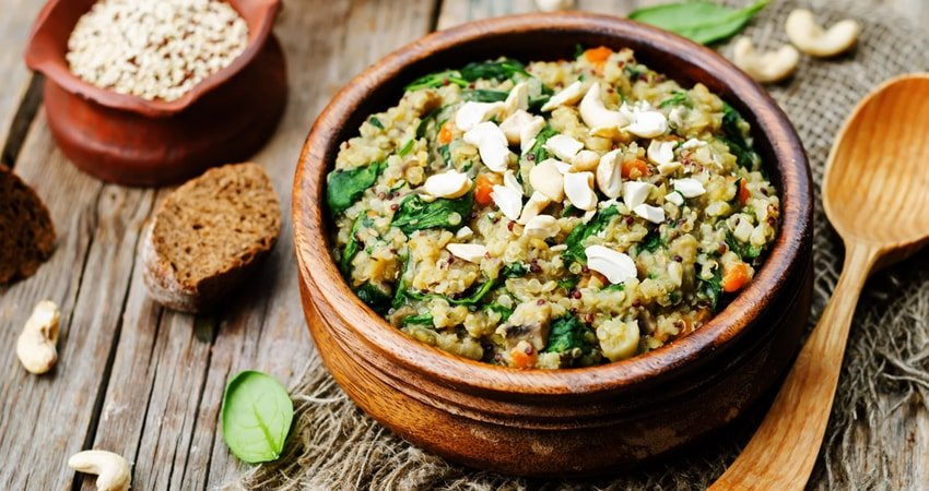 Salad with Lentils and Quinoa