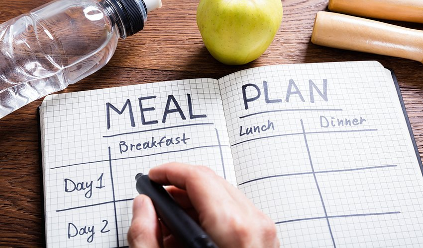 Set aside a meal planning time in your schedule