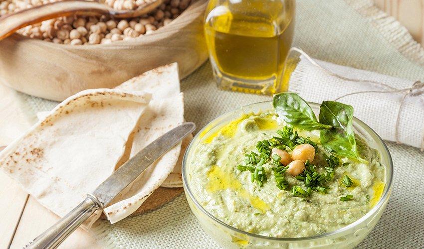 Creamy Green Organic Hummus