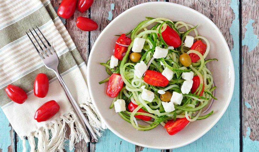Cucumber 'Noodles' Salad