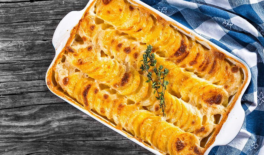 Silken Tofu Scalloped Potatoes