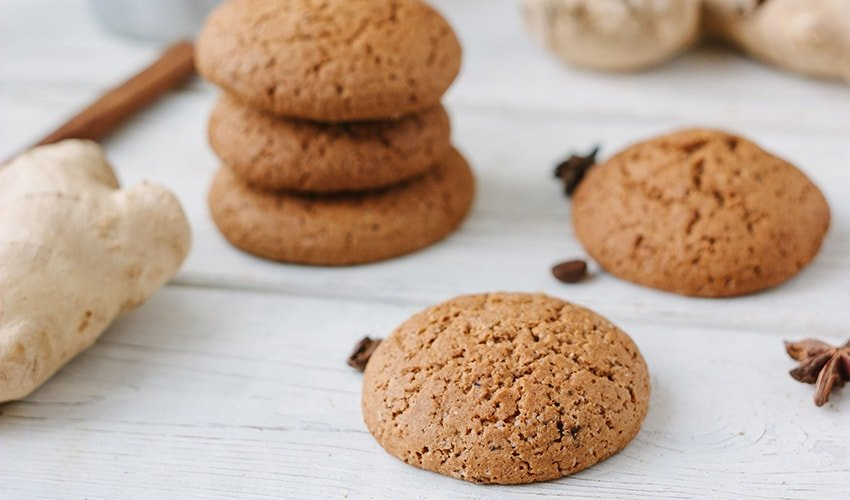 Buckwheat Flour Gluten-Free Cookies with Ginger