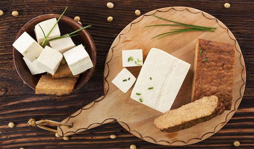 Tofu and Tempeh.