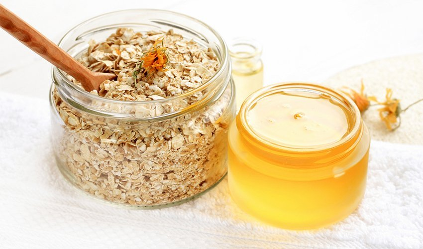 Oats help with skin care