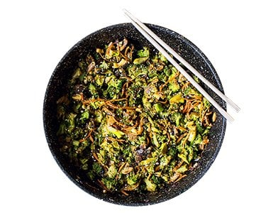 Broccoli and Mushroom Stir-Fry