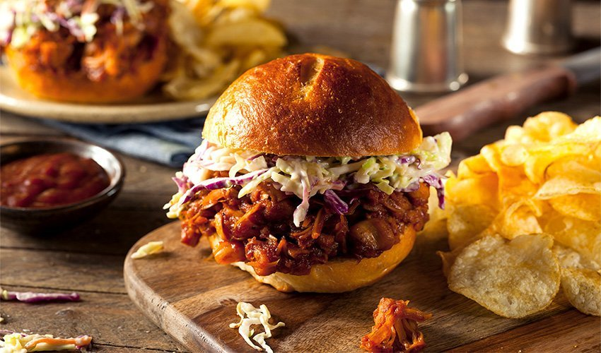 Sloppy Joe Tempeh with coleslaw