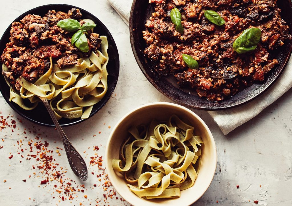 Mushroom & Walnut Spicy Bolognese