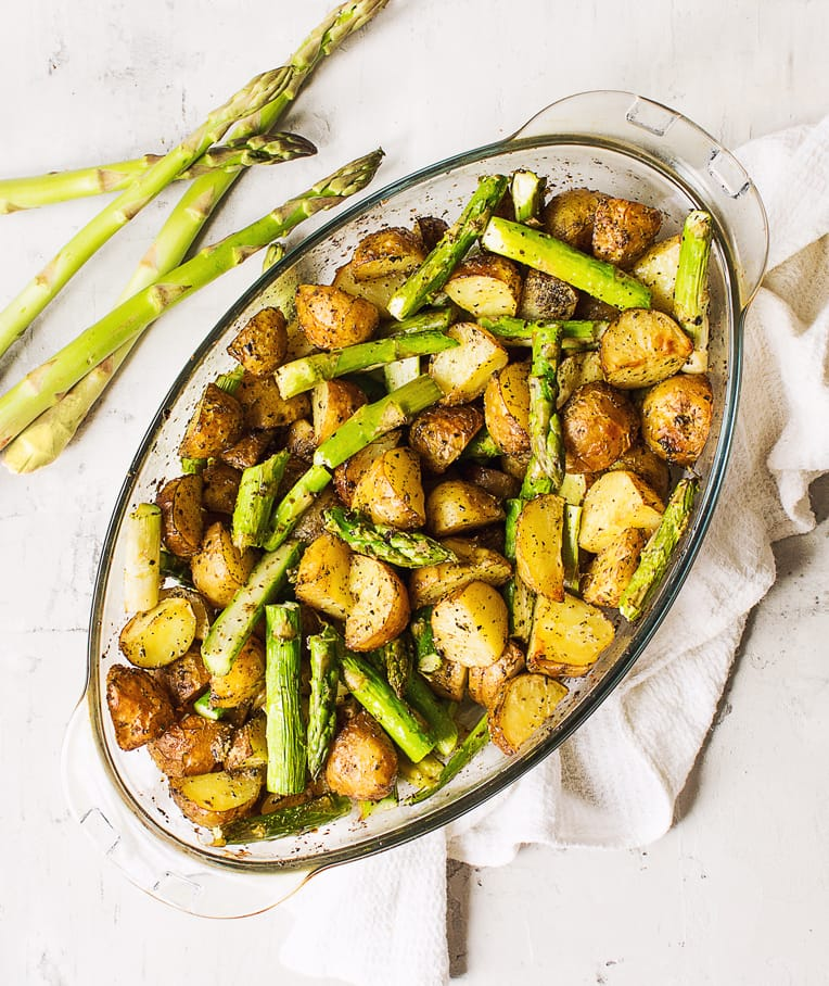 Roasted New Potatoes with Asparagus