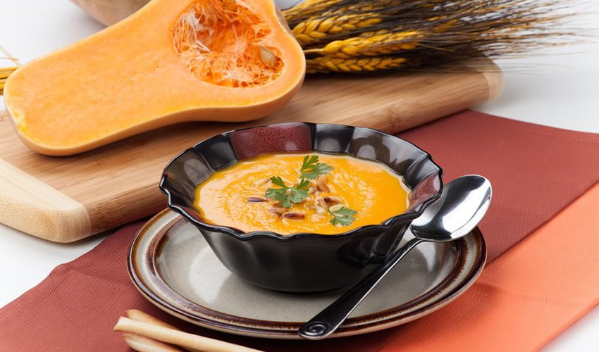 pumpkin soup with nuts
