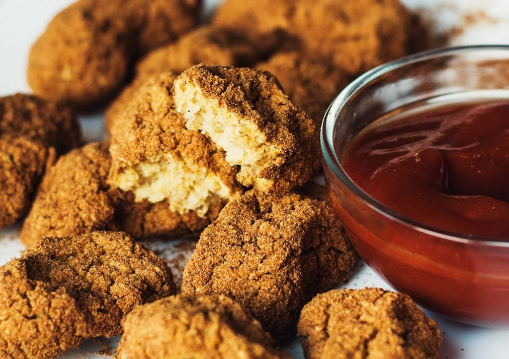 vegan chickpea nuggets