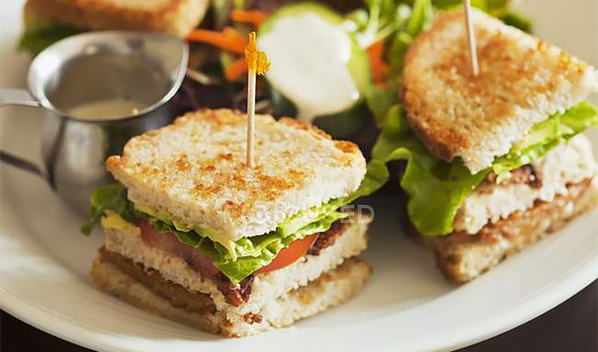 Hummus club sandwich