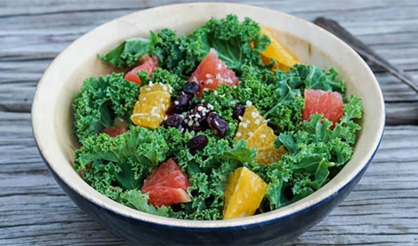 Winter greens and citrus salad