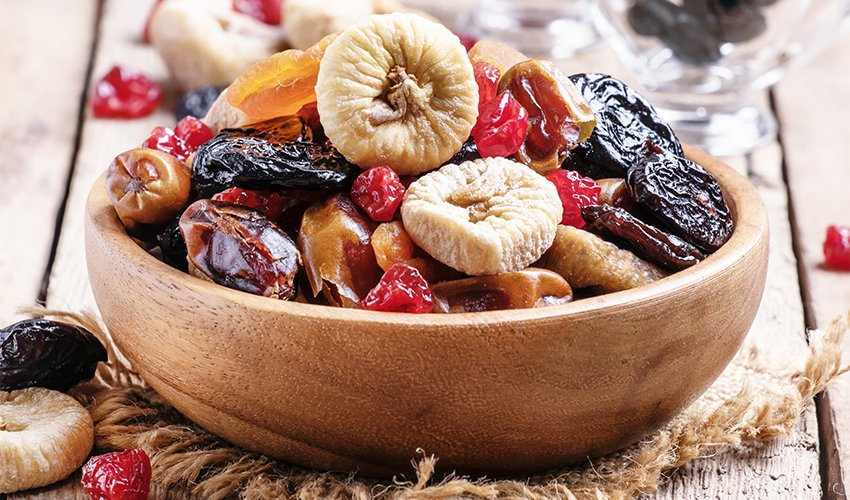 Low-Sugar dried Fruits
