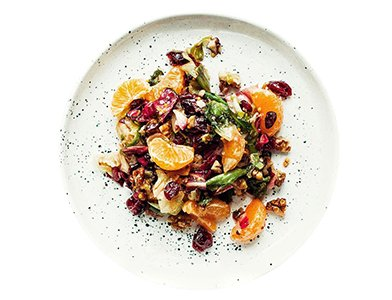 Mandarin Orange Salad with Cranberries and Walnuts