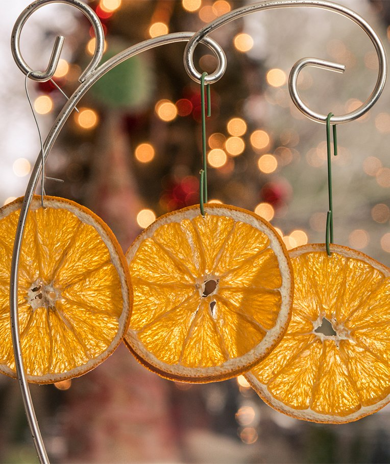 How To Make a Dried Fruit Christmas Garland