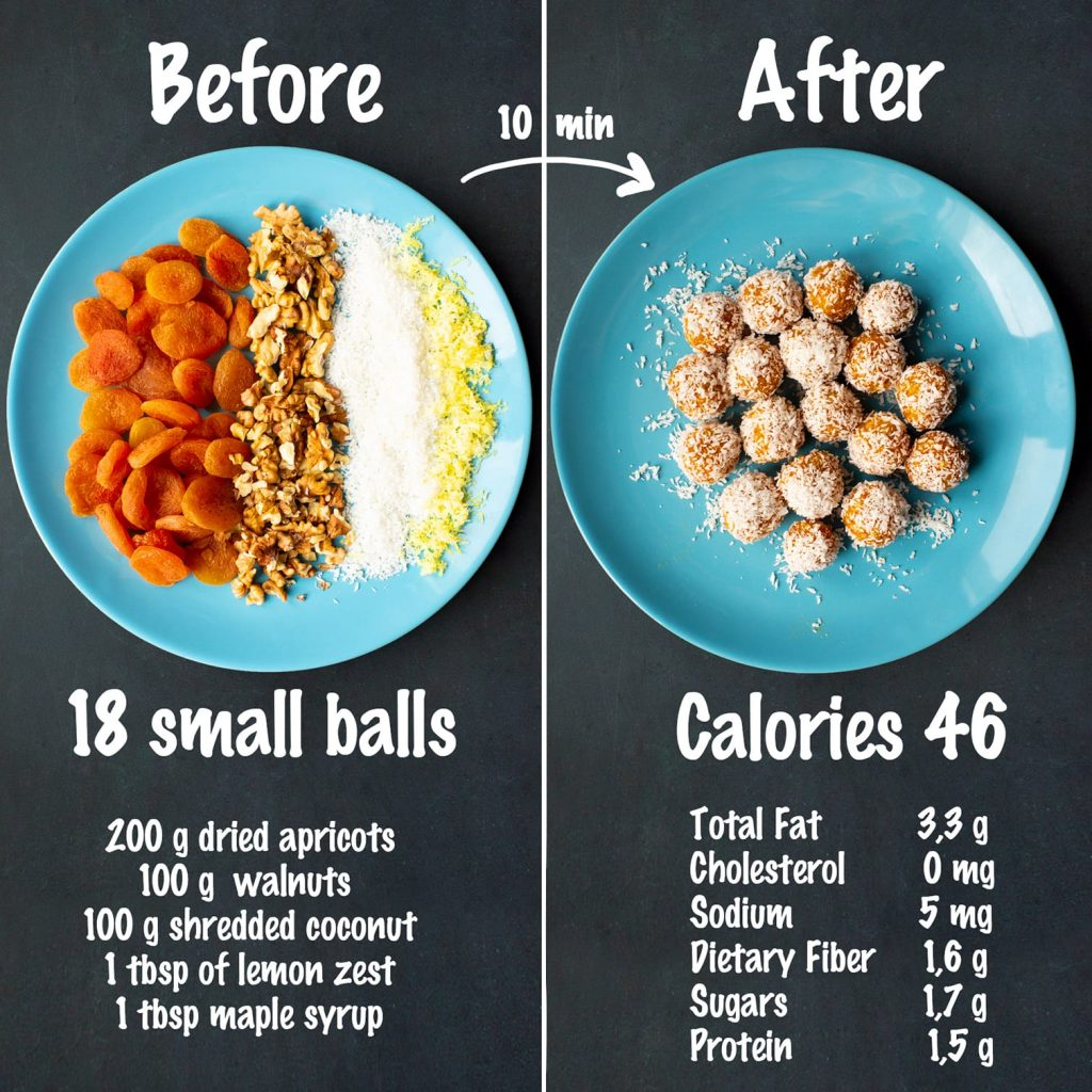 apricot coconut balls recipe ingredients