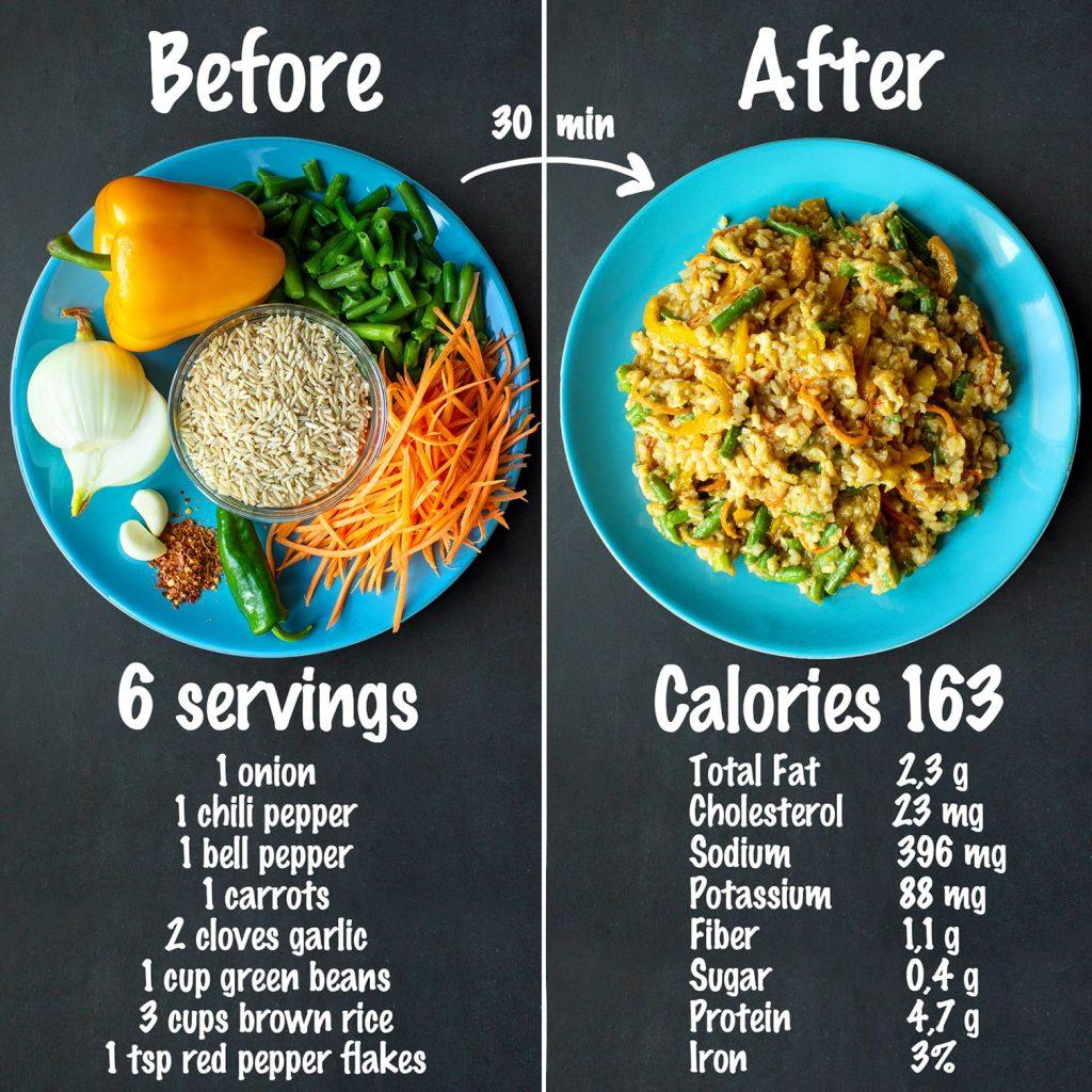 Vegetable Fried Brown Rice recipe ingredients