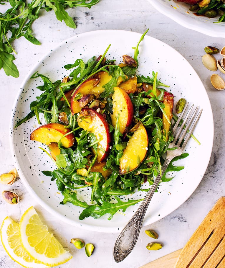 Peach Salad with Pistachios