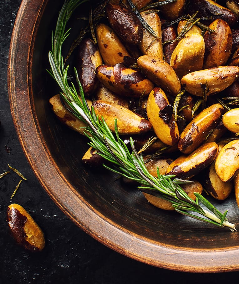 Spicy Rosemary Roasted Brazil Nuts