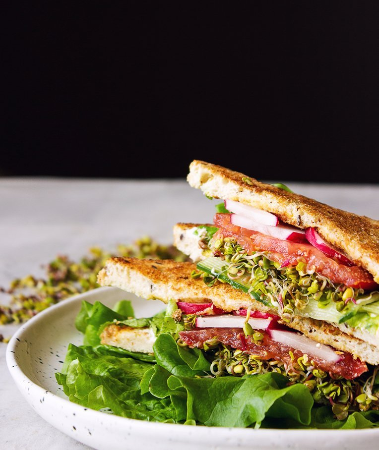 Fresh Spring Sandwich with Sprouts