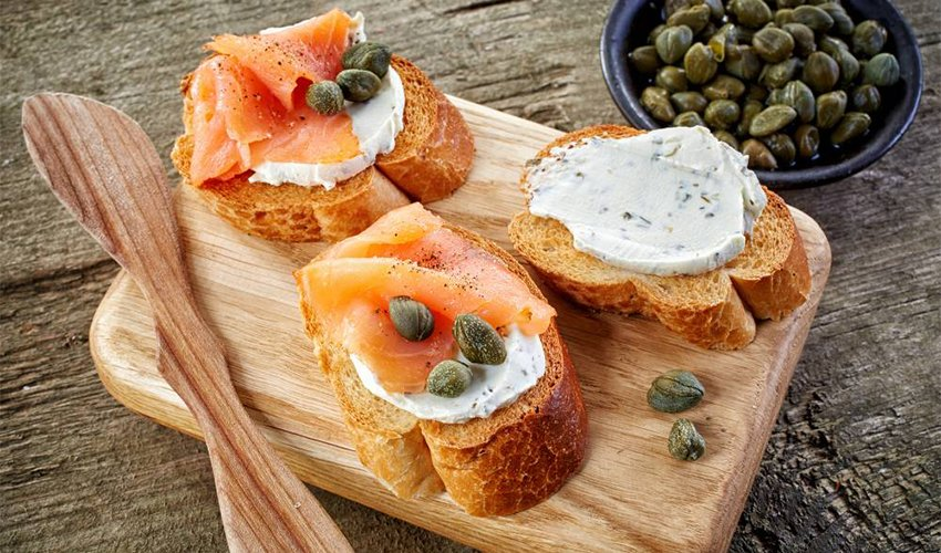 Smoked Salmon, Cream Cheese, Capers, and Dill