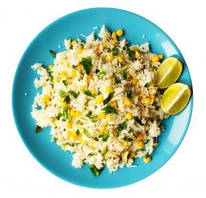 Cilantro Lime Basmati Rice with Corn