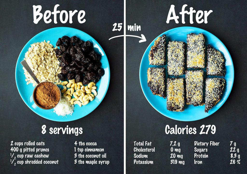 vegan prune slice recipe and nutrition