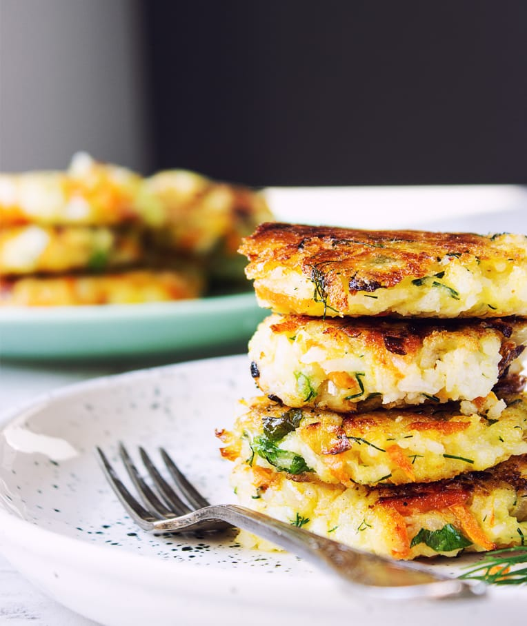 Potato Cakes with Rice