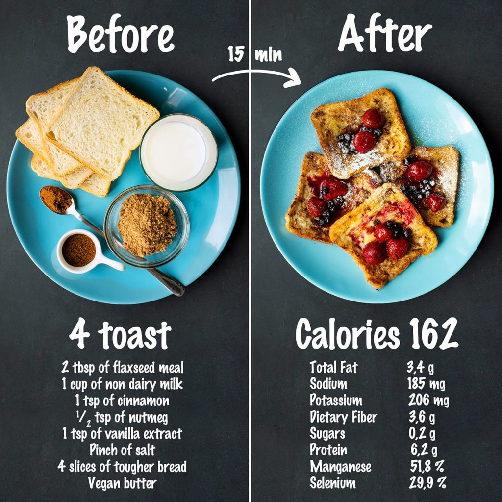 Vegan French Toast nutrition and recipe