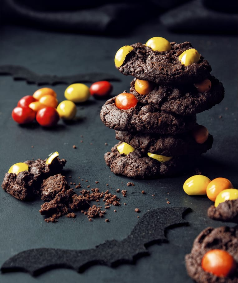 Dark Chocolate Halloween Cookies