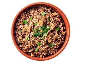 Buckwheat Kasha with Caramelized Mushrooms