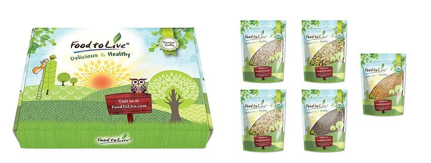 Organic Omega-3 Seeds Gift Box