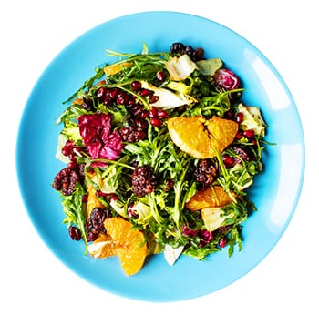 Winter Pomegranate Salad with Candied Red Walnuts