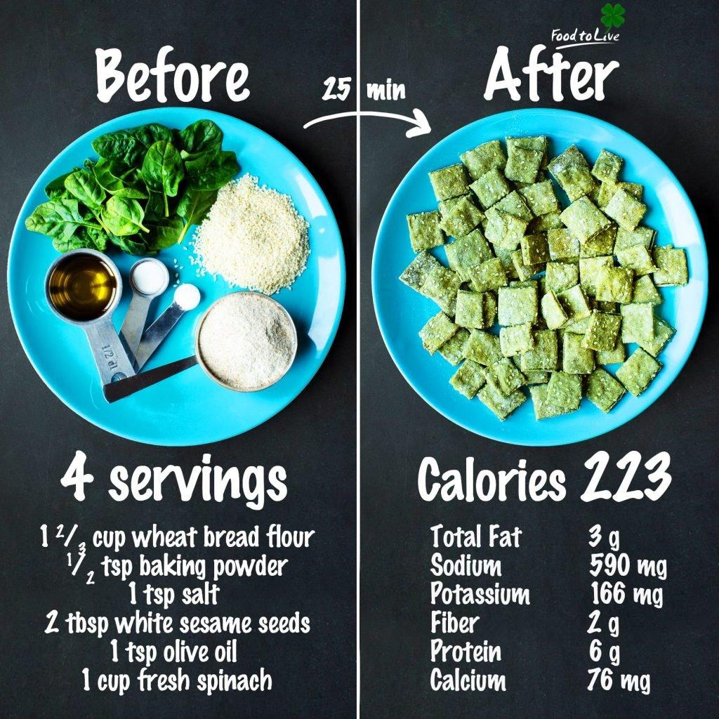 saint-patrick's day sesame crackers nutrition