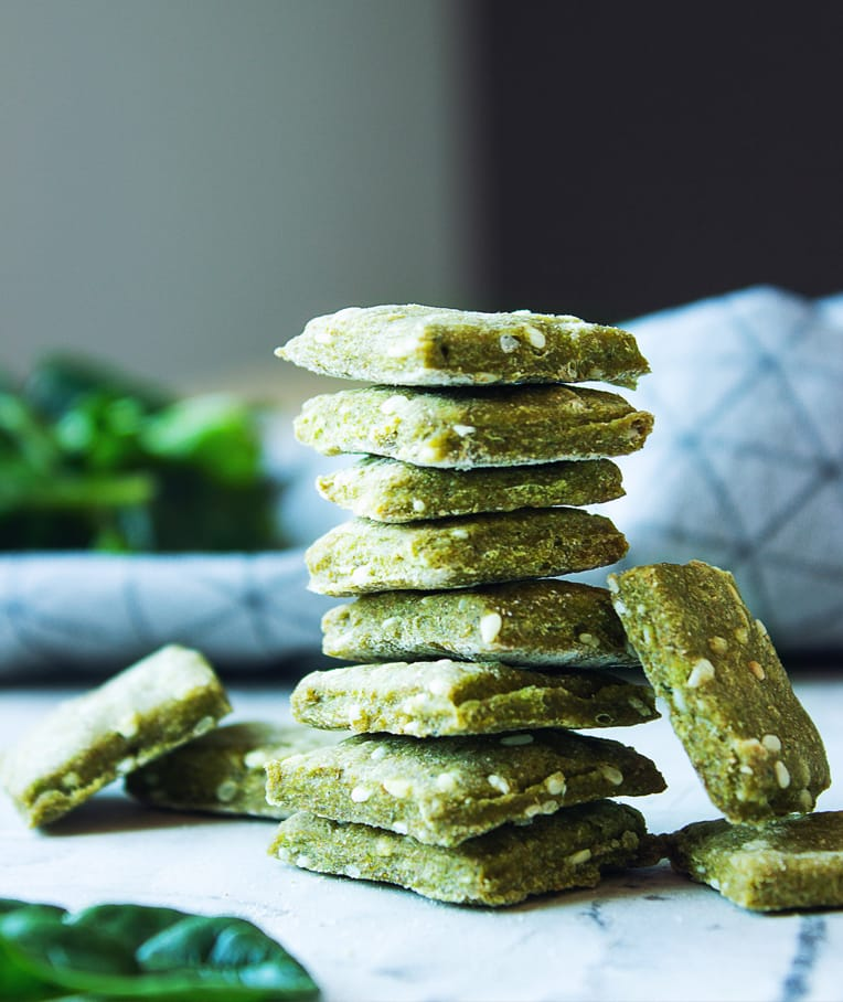 St. Patrick's Day Sesame Crackers