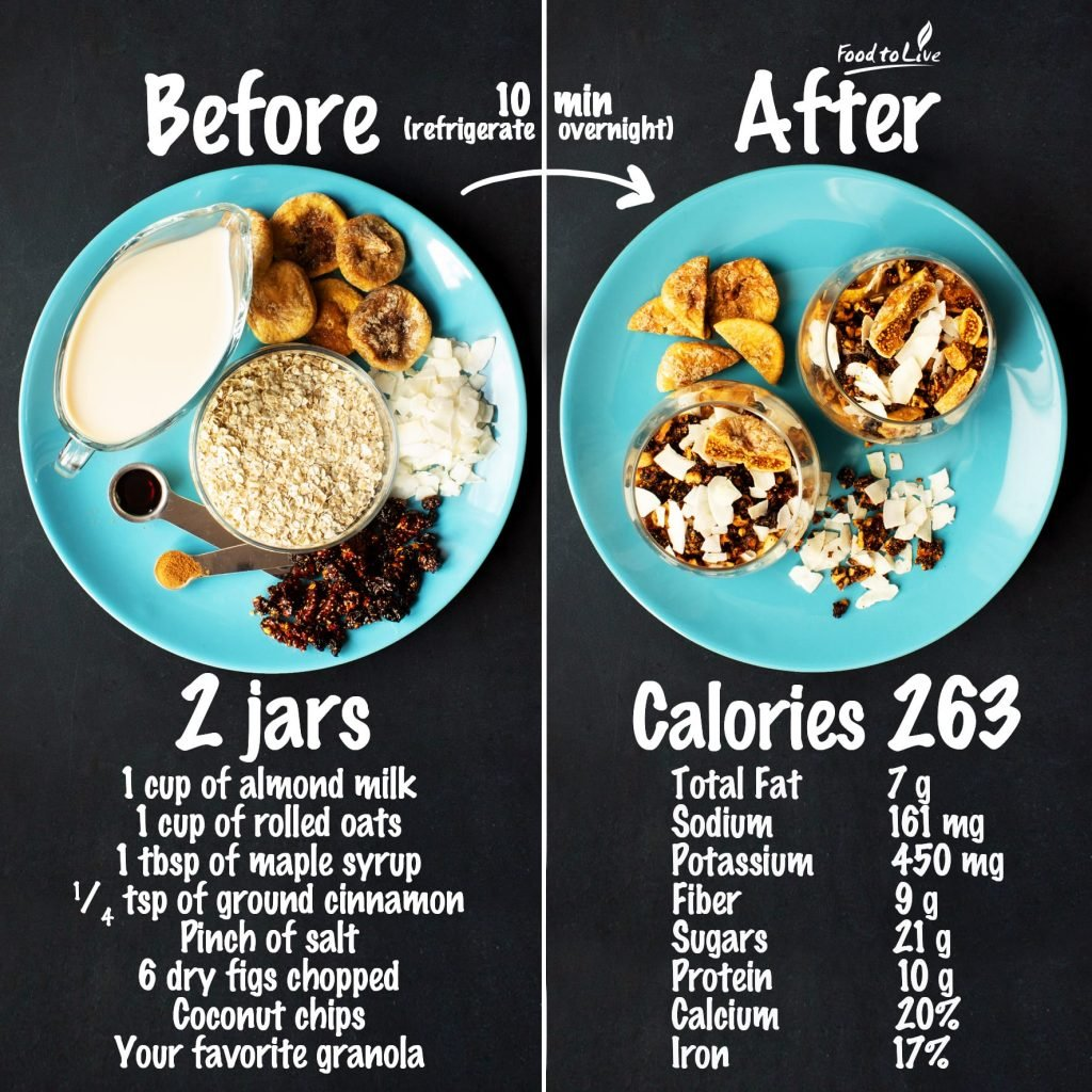 dried fig overnight oats nutrition