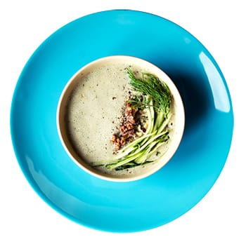 Cold Cucumber Yogurt Soup with Cannellini Beans