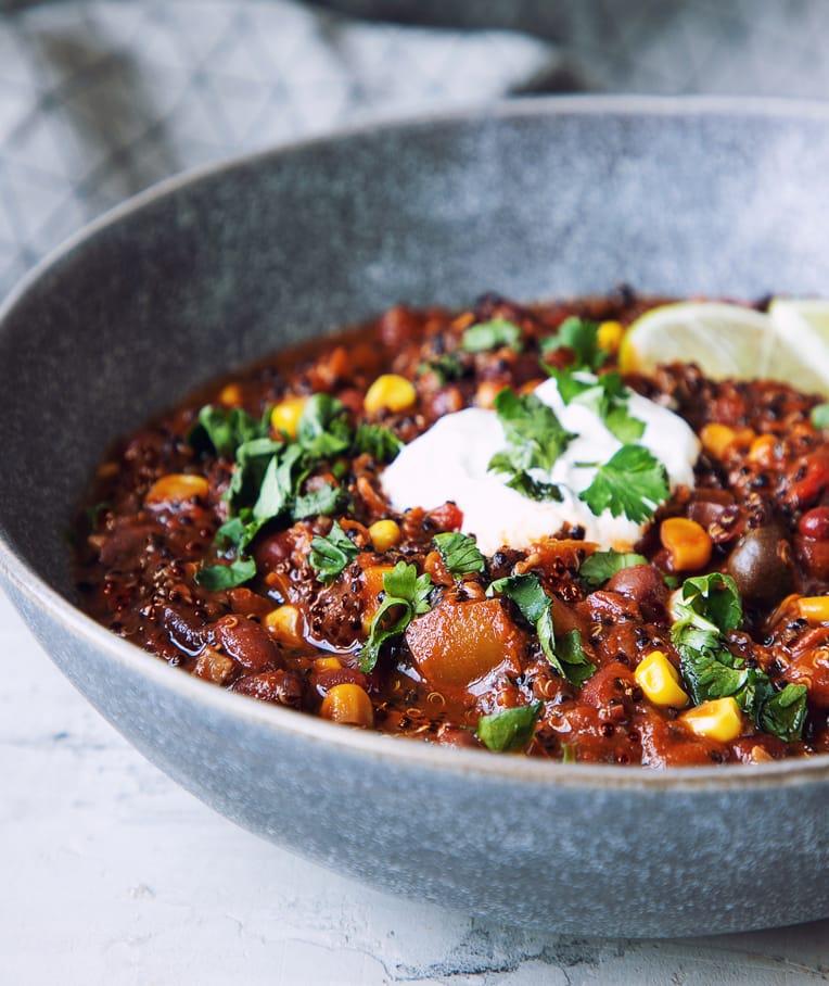 Texas Style Quinoa Bean Chili