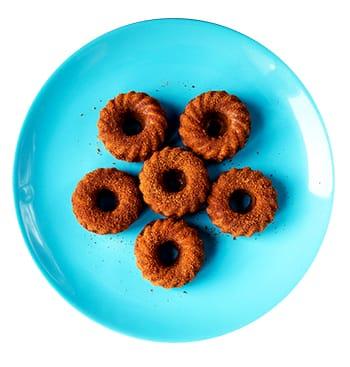 Cinnamon Sugar Mini Pumpkin Donuts