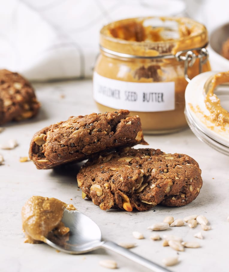 Breakfast Cookies with Homemade Sunflower Butter