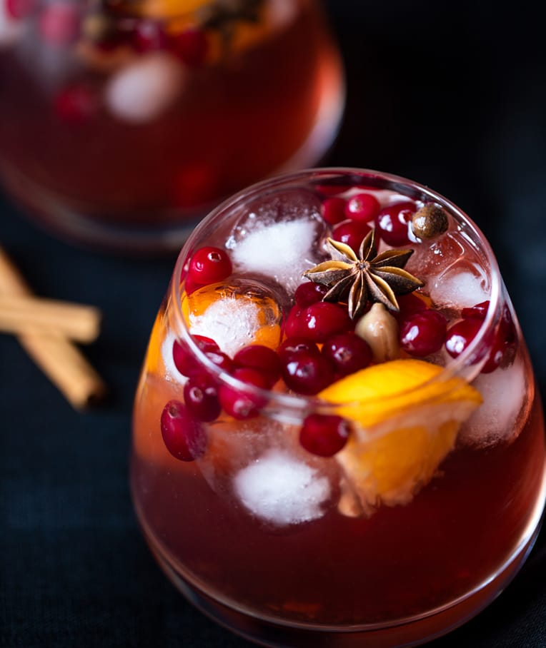 Non-Alcoholic Spiced Holiday Sangria